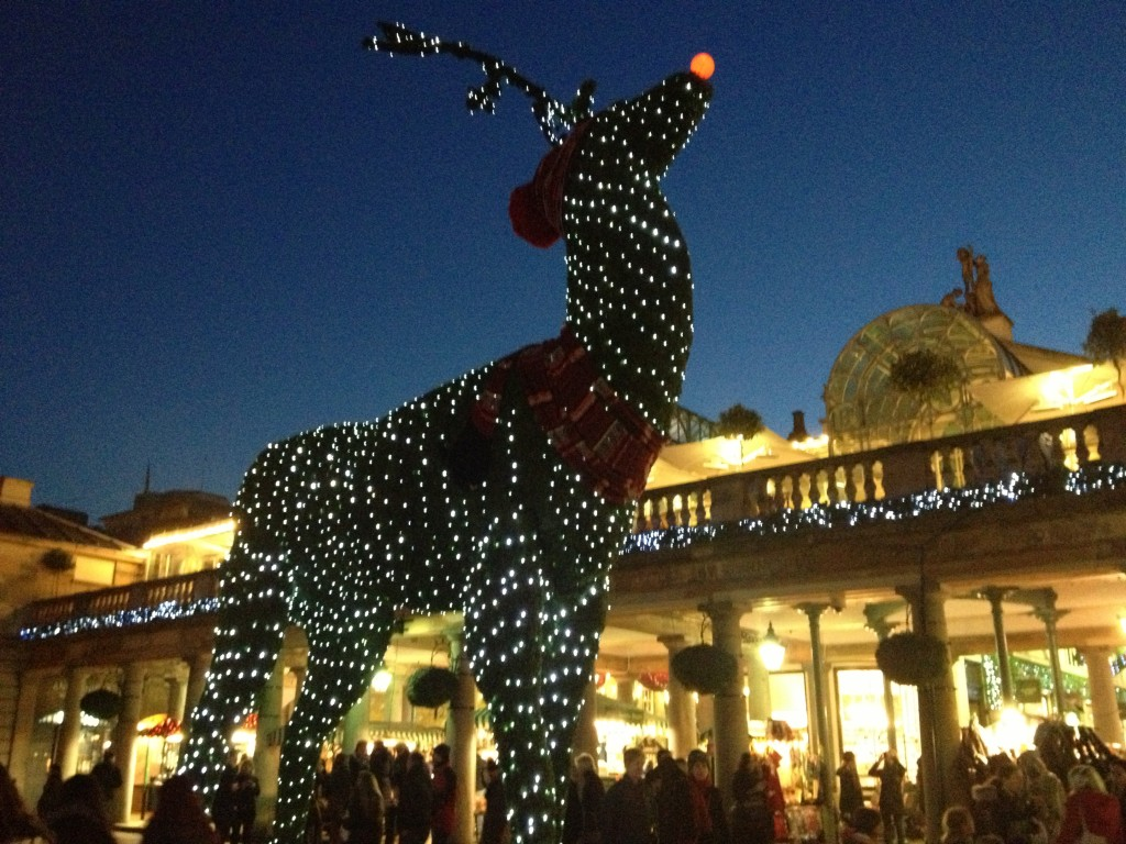 Oversized Rudolph the Red-Nosed Reindeer in Covent Garden